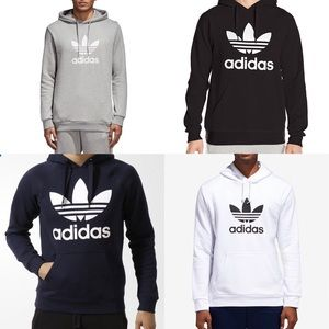 Adidas Originals Trefoil Hoodie Navy Pullover FIRM NWT